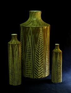 Vaser i serien Nigeria från Upsala-Ekeby