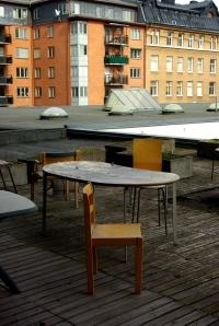 Terrass utanför lärarrum