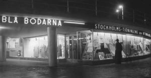 Blå bodarna. Upphov: Almberg & Preinitz. Stockholms Stadsmuseum. CC: By, Nc, Sa
