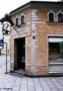 Lagerqvist Järn i hörnet av Vretgränd och Dragarbrunnsgatan i Uppsala.