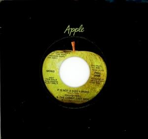 Den mycket sällsynta David Peel-singeln. (Typisk USA-etikett)