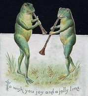 Frogs-playing